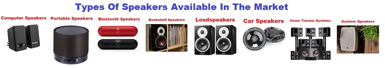 Types Of Speakers Available In The Market