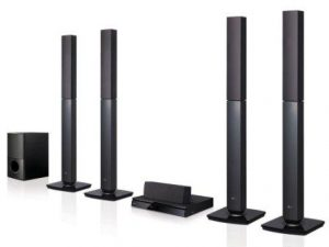 LG LHD657 Bluetooth Multi Region Free 5.1-Channel Home Theater Speaker System w Free HDMI Cable, 110-240 Volt