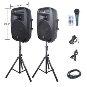 PRORECK PARTY 15 Portable PA Speaker System Combo Set