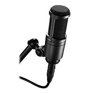 Audio-Technica AT2020 Cardioid Condenser Studio Microphone, Black