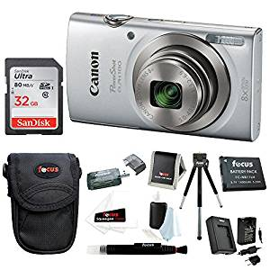Canon PowerShot ELPH 180 20 MP Digital Camera (Silver)