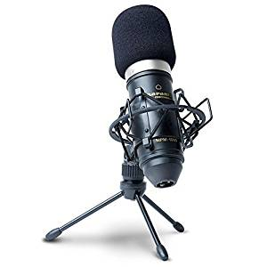 Marantz Professional MPM-1000  Cardioid Condenser Microphone with Windscreen, Shock Mount & Tripod Stand (18mm / XLR Out)