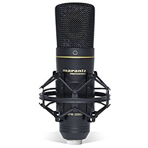 Marantz Professional MPM-2000U  Studio Condenser USB Microphone with Shock Mount, USB Cable & Carry Case (USB Out)