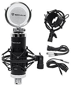 Rockville RCM03 Pro Studio Recording Condenser Microphone Mic+Metal Shock Mount