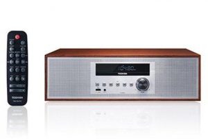 Toshiba TY-CWU700 Vintage Style Bluetooth Audio Streaming & CD Player Wood Speaker System