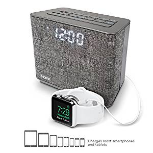 iHome iBT232 Bluetooth Dual Alarm FM Clock Radio with Speakerphone and USB Charging