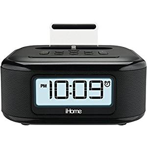 iHome iPL23 Stereo FM Clock Radio with Lightning Dock Charge/Play for iPhone 5/5.6Plus 6S/6SPlus 7/7Plus