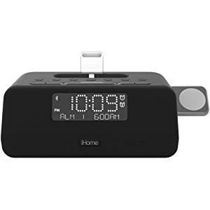 iHome iPL8XHG Dual Alarm FM Clock Radio with Lightning Dock for iPhone
