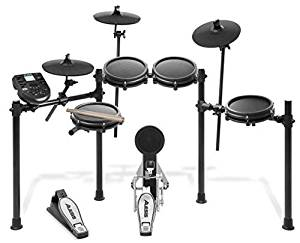 "Alesis DM6 USB Kit  Eight-Piece Compact Beginner Electronic Drum Set with 8"" Snare, 8"" Toms, & 12"" Cymbals"