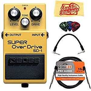 Boss SD-1 Super Overdrive Bundle with Instrument Cable