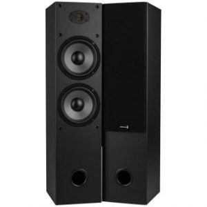 Dayton Audio T652-AIR Dual 6-12 2-Way Tower Speaker Pair with AMT Tweeter