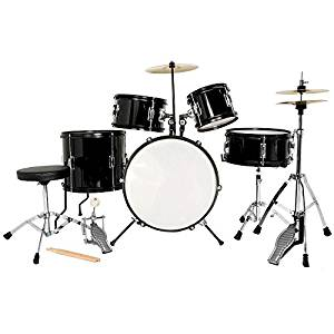 LAGRIMA Full Size 5 Piece Complete Junior/Kids/Beginner Drum Set