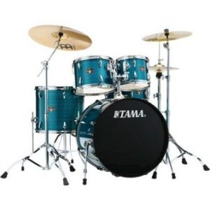 Tama New Imperialstar 22 Inch Bass Drum 5pc Complete Drum Kit (Hairline Blue) w Stage Master 40 Series Hardware