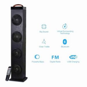 Tower Speaker, TRANSPEED Wireless Bluetooth Floorstanding Speaker