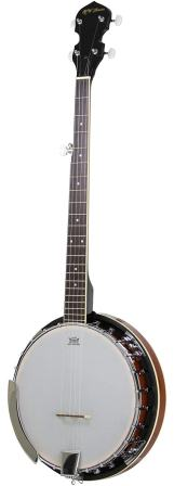 5 String Banjo 24 Bracket with Closed Solid Back and Geared 5th Tuner by Jameson Guitars