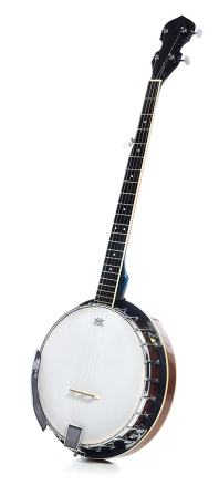 5 String Resonator Banjo with 24 Brackets Closed Back and Geared 5th Tuner Resoluute