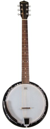 6 String Banjo Guitar Closed Back Resonator and 24 Brackets