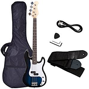 Electric Bass Guitar, Safeplus Starters Acoustic Guitar Full Size 4 String Package with Guitar Bag
