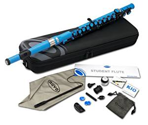 Nuvo SE200FBL Student Flute Kit with Straight Head, C, Foot, Case & Accessories, Special Edition Electric Blue