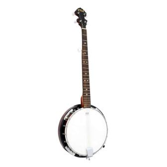 Pyle 5-String Geared Tunable Banjo with White Jade Tune Pegs & Rosewood Freatboard Polished