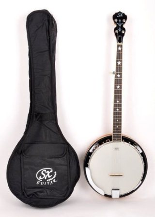 SX Country 5-String Banjo with Closed Back and Carry Bag