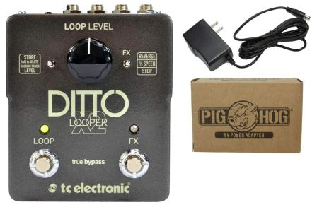 TC Electronic Ditto X2 Looper Pedal Bundle with Switchable Effects