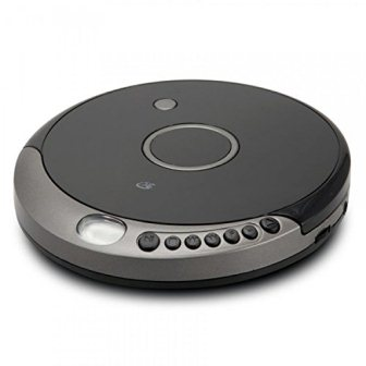 GPX PC807B Personal Portable MP3CD Player with Anti-Skip Protection with Stereo Earbuds, BlackGray