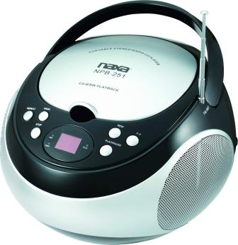 NAXA Electronics NPB-251BK Portable CD player with AMFM Stereo Radio
