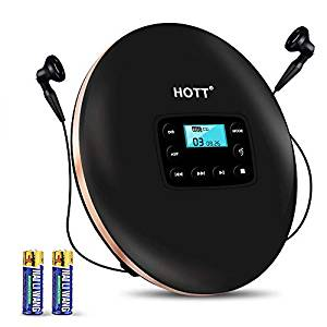 Portable CD player, HOTT Personal Compact Disc Player with Headphones and Power Adapter