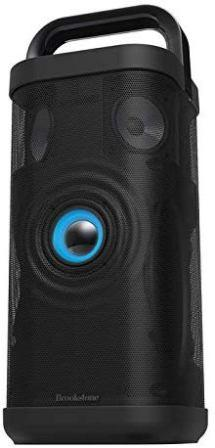 Brookstone's Big Blue Party Indoor-Outdoor Bluetooth Speaker