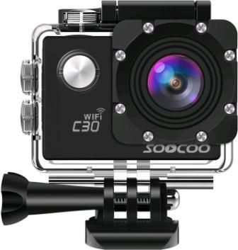 Sports Camera, SOOCOO 4K Action Camera 20MP 2.0 Inch Waterproof Diving Camera