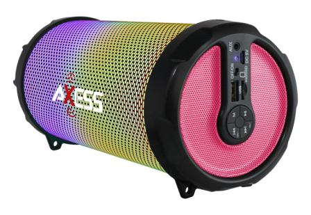 AXESS SPBL1044 Vibrant Plus Black HIFI Bluetooth Speaker with Disco LED Lights
