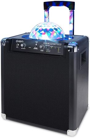 ION Audio Block Party Live 50 Watt Portable Bluetooth Speaker System with Party Lights