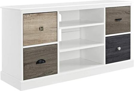 Ameriwood Home Mercer Console with Multi-Color Door Fronts