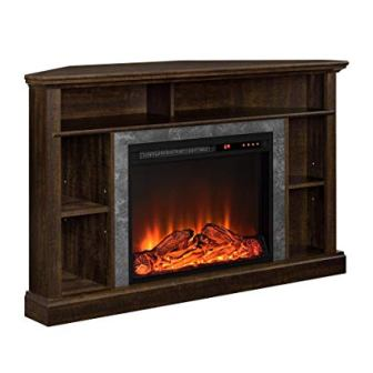 Ameriwood Home Overland Electric Corner Fireplace TV Stand