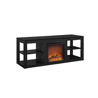 Ameriwood Home Parsons Black TV Stand