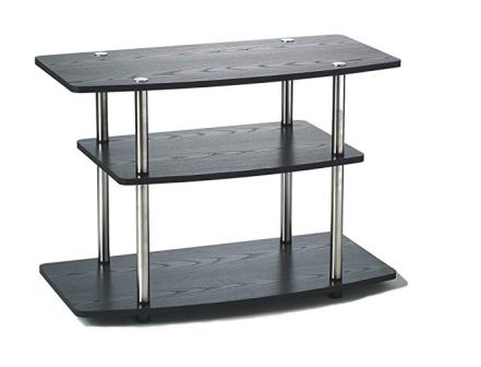 Convenience Concepts 131020 Designs2Go 3-Tier Black TV Stand