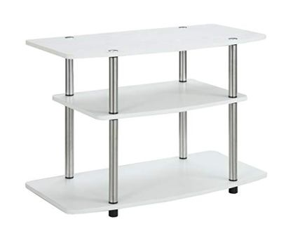 Convenience Concepts 3-Tier White TV Stand
