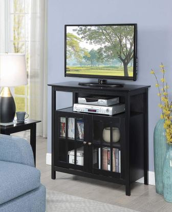Convenience Concepts 8066070BL Big Sur Black TV Stand