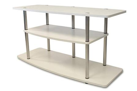 Convenience Concepts Designs2Go 3-Tier White TV Stand