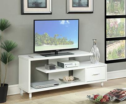 Convenience Concepts Seal II White TV Stand