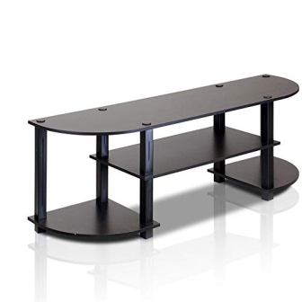 Furinno Jaya 11058EX/BK Turn-S-Tube Black TV Stand