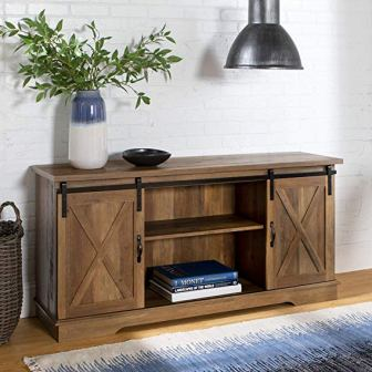 Home Accent Furnishings Barn Door Television Stand