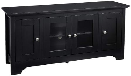 Rockpoint Plymouth Black TV Stand