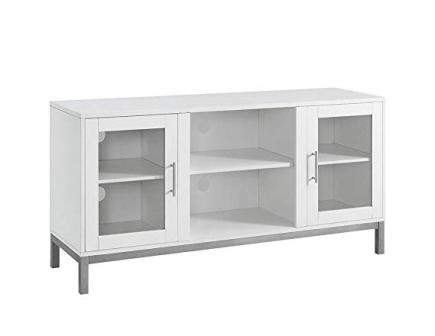 WE Furniture White Avenue Wood TV Stand Console