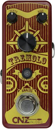 CNZ Audio Tremolo Analog Guitar Effects Pedal,