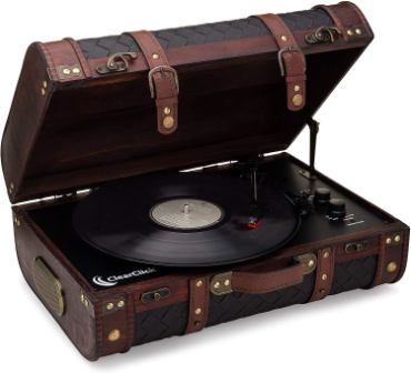 ClearClick Round Suitcase Turntable
