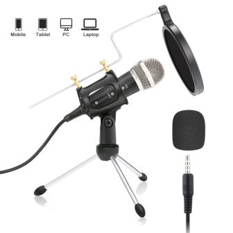 Condenser Microphone, NASUM 3.5mm Recording Microphone Plug and Play