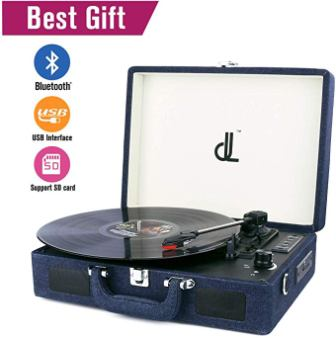 D&L Portable Vinyl Record Player