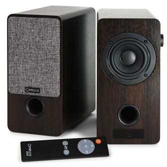 Micca ON3 3-Inch Powered Bookshelf Speakers